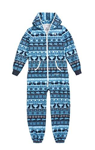 OnePiece Mädchen Bekleidungsset Jumpsuit Kids Hip Hop, Blau (Northern Blue), X-Small (Herstellergröße: 146)