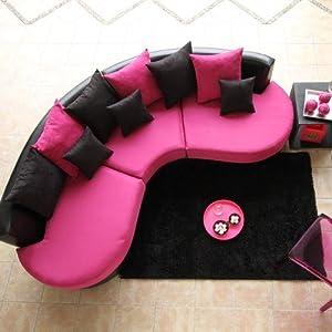 cotedeco canape demi lune cheyenne couleur beige. Black Bedroom Furniture Sets. Home Design Ideas