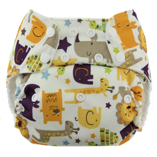Blueberry Simplex All In One Diaper, Jungle Jam, One Size