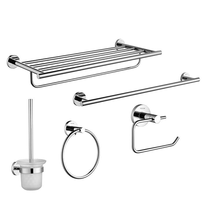 HCP Bagno accessori hardware kit/All-in rame barra di tovagliolo/anello di tovagliolo/titolare di carta igienica/Scopino/portasciugamano
