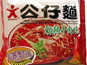 Doll Instant Noodle Spicy Artificial Beef 363 Oz 30 Packs by Winner Food Products