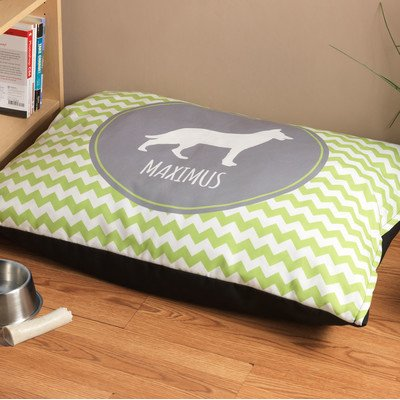 Personalized German Shepherd Chevron Pattern Dog Bed