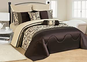 7 tlg xxl moderne doppelbett bettgarnitur tagesdecke bett berwurf 240x260cm decke set. Black Bedroom Furniture Sets. Home Design Ideas
