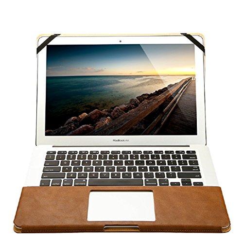 Jisoncase MacBook Pro 13pollici con supporto, Ventola Ultra Sottile A portafoglio in vera pelle per Apple Macbook Pro 13.3con funzione di supporto