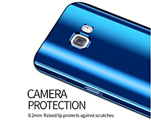 Galaxy A7(2017) Case Galaxy A5(2017) Case 3 in 1 Full Body Plating Mirror Ultra Thin Skin Protective Cover for Samsung Galaxy A5/A7 (Blue, A5(2017) (Color: Blue, Tamaño: A5(2017))