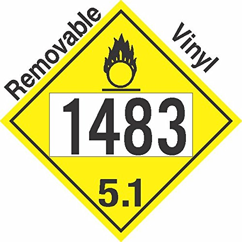GC Labels-P306c1483, Oxidizer Class 5.1 UN1483 Removable Vinyl DOT Placard, Package of 50 Placards