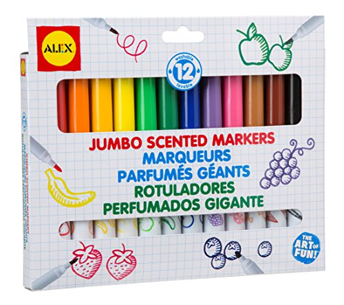 ALEX Toys Artist Studio Jumbo Scented Markers Set of 12 - 1
