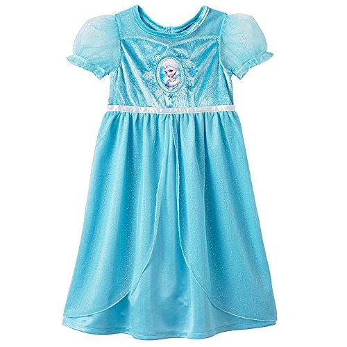 [Disney Frozen Girls Toddler Elsa Costume Nightgown 2T Blue] (Elsa 2t Costume)