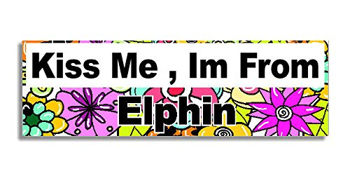 kiss-me-im-from-elphin-car-sticker-sign-coche-pegatina-decal-bumper-sign-5-colours-flowers