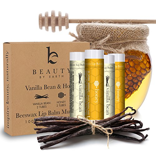 SALE - Lip Balm Vanilla Bean & Honey (4 pack)