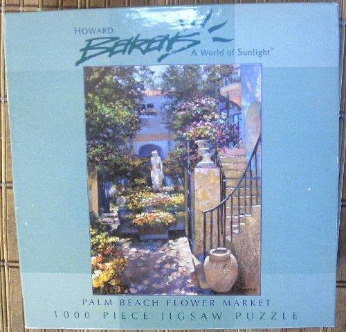 Palm Beach Flower Market 1000 Piece Puzzle by Howard Behrens