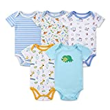 Mother Nest Baby Bodysuit Onesies Clothes Boys 5 Pack(BBT050-9M) Size: 6-9 Month Color: Giraffe, Model: , Newborn & Baby Supply