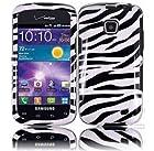 Zebra Design Hard Case Protective Cover - Compatible With Samsung Illusion i110 Galaxy Proclaim S720C - Black And White