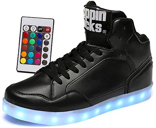 LED-Light-Up-Shoes-with-Remote-Control-Men-Women-Leather-High-Top-Sneaker