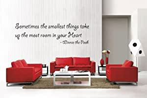"""Newclew WINNIE THE POOH Quote """"Sometimes the smallest things..."""" removable Vinyl Wall Quote Decal Home Décor Large"""
