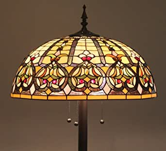 tiffany style stained glass floor lamp quotgranduerquot w 20 With tiffany style stained glass floor lamp granduer w 20 shade