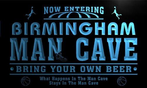 Qc2147-B Birmingham State Cities Man Cave Basketball Bar Neon Beer Light Sign
