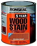 Ronseal 5YWGC750 750ml 5 Year Woodstain - Golden Cedar