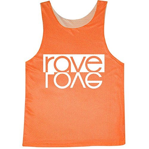 Rave Love Bright Neon Women's Reversible Mesh Tank – in Neon Orange – Medium
