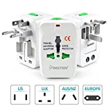 Insten Universal World Wide Travel Charger Adapter Plug, White