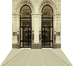 Ouyida Vintage European architecture 10X15FT(300X450CM) Pictorial cloth Customized photography Backdrop Background studio prop GQ54