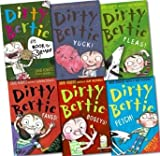 Alan MacDonald Dirty Bertie Collection David Roberts 6 Books Set (Fangs!, Fetch!, Fleas!, Bogeys!, Yuck!, My book of stuff!)