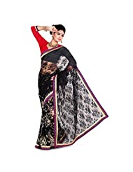 Faux Georgette Fabric Black Color By 101cart - B00PVW12MW
