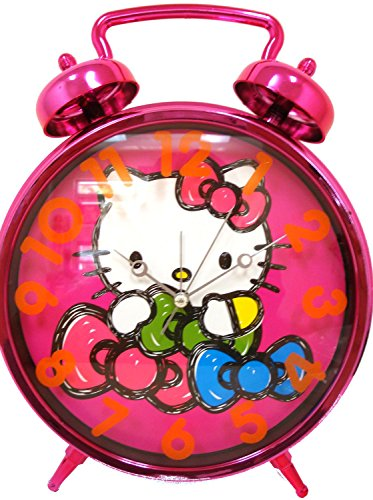 Hello Kitty Jumbo Twin Bell Pink Clock Age 8+