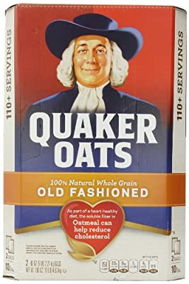 Quaker oats, old fashioned, 2 5 lb. bags, 100+ servings 10-lb by Quaker