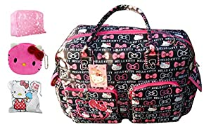 2014 Hello Kitty Ultra-large Capacity Diaper Tote Bags Shoulder Bag /Handbag Weekend Travel Bag (Bowknot) by LL-Bag