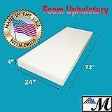 "4"" X 24"" X 72"" Upholstery Foam Cushion (Seat Replacement , Upholstery Sheet , Foam Padding)"