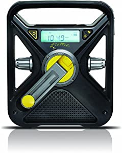 Soulra FRX3 Wind-Up Radio with USB Charge Output (USW / MW Tuner) Black