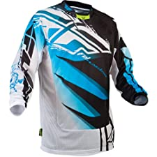 Fly Racing Kinetic Inversion Mesh Youth Boys Off-Road/Dirt Bike Motorcycle Jersey - Blue/White / Size 20-22