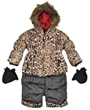 Rothschild Infant Girls Perfect Animal Print Snowsuit Jacket (18M)
