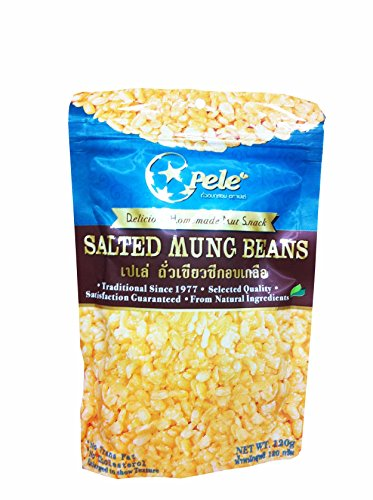 3 Packs of Salted Mung Beans, Deliicious Homemade Nut Snack From Pele Brand, Selected Quality From Natural Ingredients. (No Trans Fat, No Cholesterol) (120g/ Pack) (White Hot Red Hot Jelly Beans compare prices)