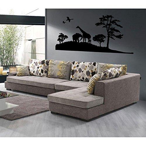 stickers-paysage-africain-violet-l-200cm-x-h-100cm