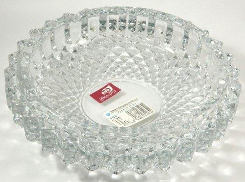 Crystal Cut Glass Big Round Ashtray Ash Tray MY-1746