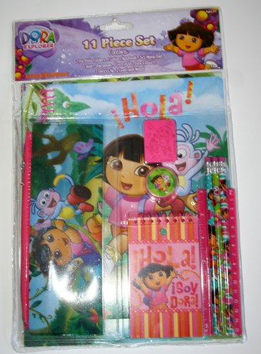 Dora and Boots 11 Piece Set School Supplies