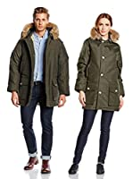 Woolrich Plumas Arctic Parka Down Filled W Fur Hoood (Verde Oscuro)