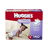 Huggies Little Movers Diapers Economy Plus, Size 5, 140 Count (packaging may vary)
