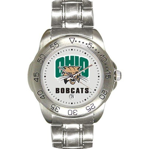 Ohio Bobcats Men&#8217;s Gameday Sport Watch w/Stainless Steel Band