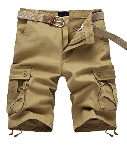 ZSHOW-Homme-Pantalons-Courts-de-Lt-Cargo-Travail-Short-Casual-Sports-Relaxed-Uni-Pockets