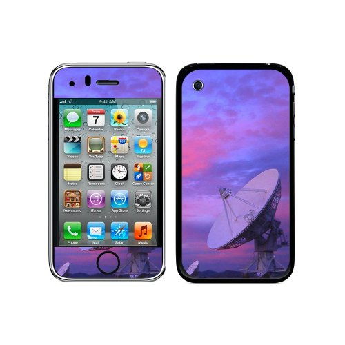 Graphics And More Protective Skin Sticker Case For Iphone 3G 3Gs - Non-Retail Packaging - Very Large Array Vla Radar Telescope Dishes At Sunset