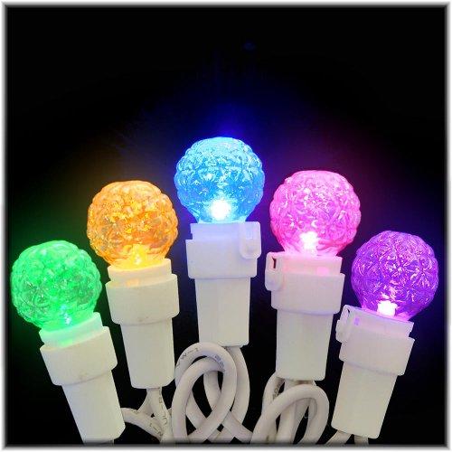 Kurt Adler Ul 50-Light Led Faceted Novelty Light Set, Multi Colored