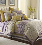 Swirl Burst 8 Piece Comforter Set Lavender Queen
