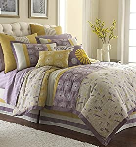 Swirl Burst 8 Piece Comforter Set Lavender Queen