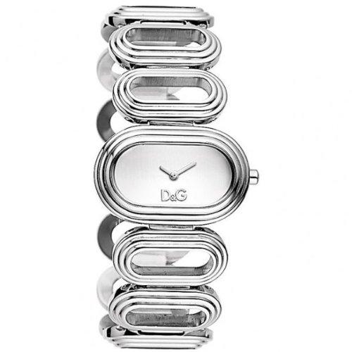 D&G Dolce&Gabbana DW0617 - Reloj analógico de mujer de cuarzo con correa de acero inoxidable plateada - sumergible a 30 metros