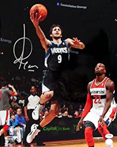 Ricky Rubio Signed Minnesota Timberwolves 16x20 Photo #2 PSA DNA