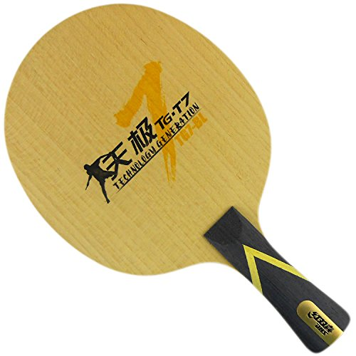 DHS TG7-BL Table Tennis Blade for Ping Pong Racket, Long(shakehand)-FL