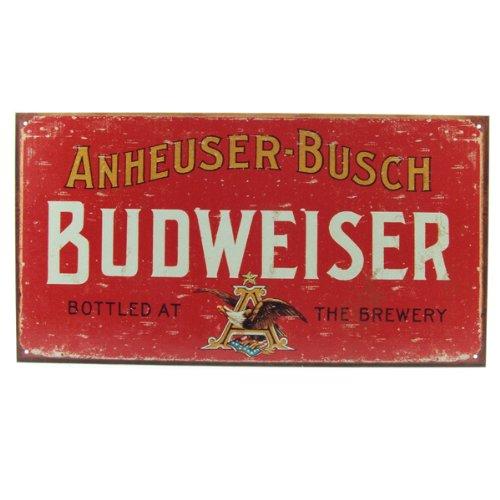 Budweiser Weathered Tin Bar Sign 1